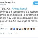 Gobernador de Anzoátegui se pronunció ante rumores de presuntos secuestros