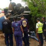 Vuelco de vehículo de la Aviación dejó dos muertos y 32 heridos