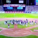 Leones perdió ante Tiburones en un duelo, empañado por una pelea (+Video)