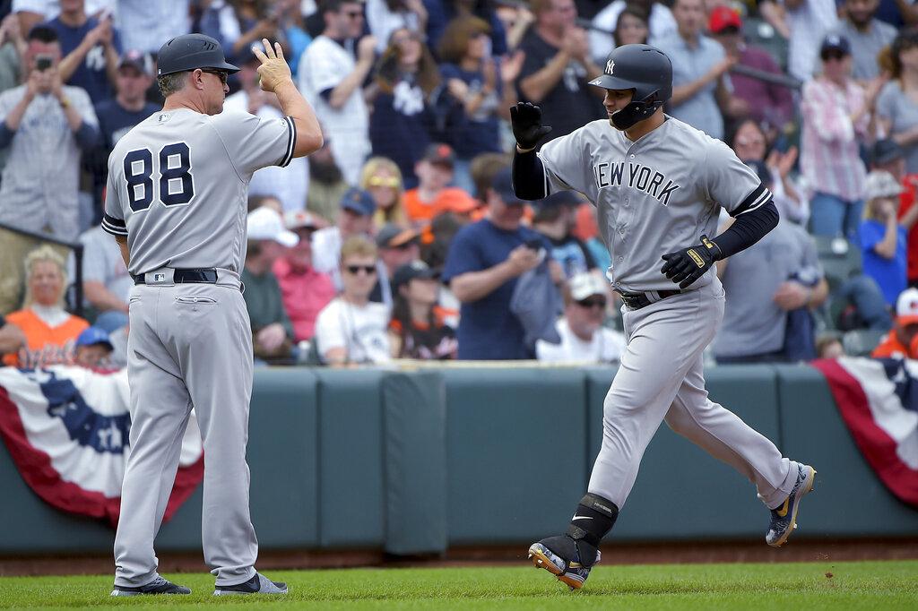 Los Yankees apalean a los Orieles