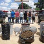 Capturaron a un oficial del Sebin y seis acompañantes con más de 182 kilos de marihuana