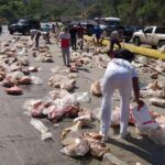 Cuatro fallecidos dejó vuelco de camión cargado de pernil del Clap en Carabobo
