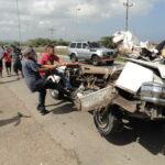 Choque de vehículos dejó dos muertos y dos heridos