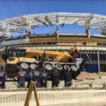 Una grúa telescópica cayó en el estadio de Tiburones de La Guaira